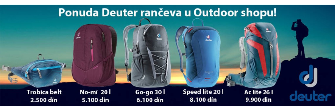 Deuter rancevi outdoor shop